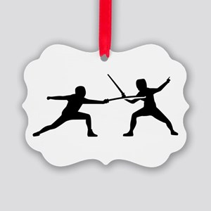 Fencing Picture Ornament