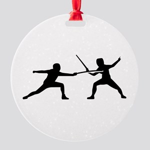 Fencing Round Ornament