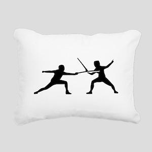 Fencing Rectangular Canvas Pillow