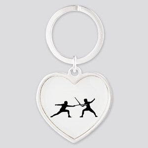 Fencing Heart Keychain