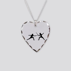 Fencing Necklace Heart Charm