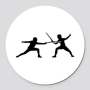 Fencing Round Car Magnet
