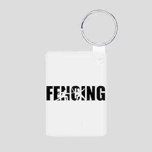 Fencing Aluminum Photo Keychain
