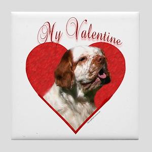 Clumber Valentine Tile Coaster
