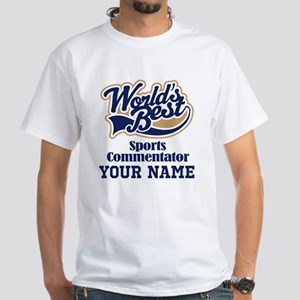 Sports Commentator Personalized Gift T-Shirt