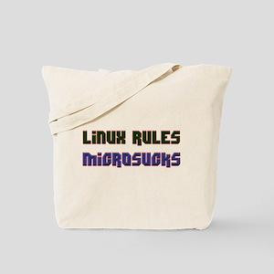 Linux Rules...Microsucks Tote Bag
