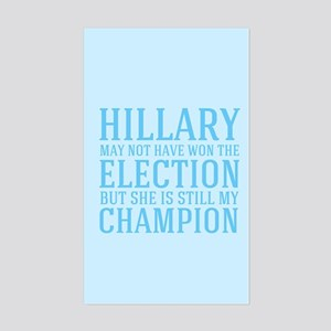 Champion Hillary Sticker (Rectangle)