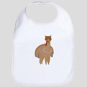 Thanksgiving Llama Baby Bib