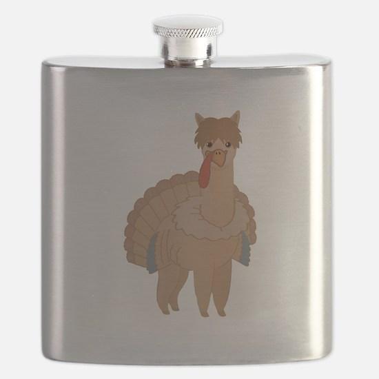 Thanksgiving Llama Flask