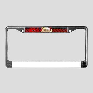 christmas dump trump License Plate Frame