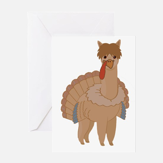 Thanksgiving Llama Greeting Cards