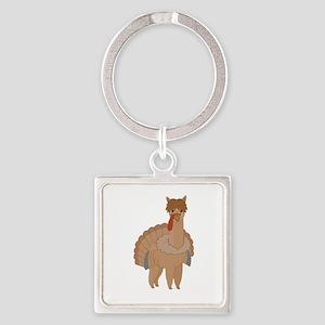 Thanksgiving Llama Keychains