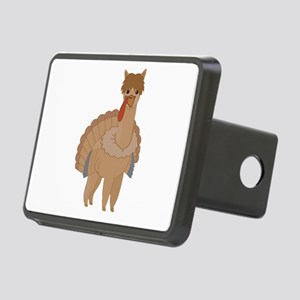 Thanksgiving Llama Rectangular Hitch Cover
