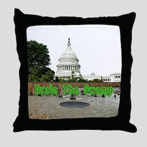 Drain The Swamp Throw Pillow