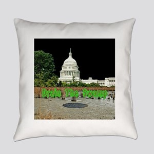 Drain The Swamp Everyday Pillow