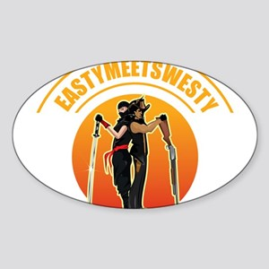 EastyMeetsWesty Logo Sticker