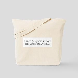 I play Banjo to silence the v Tote Bag