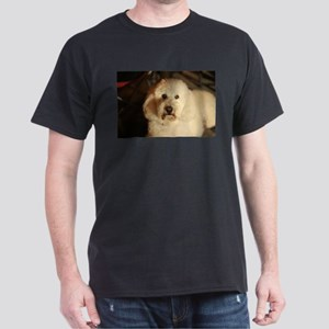 flufy white dog at night T-Shirt