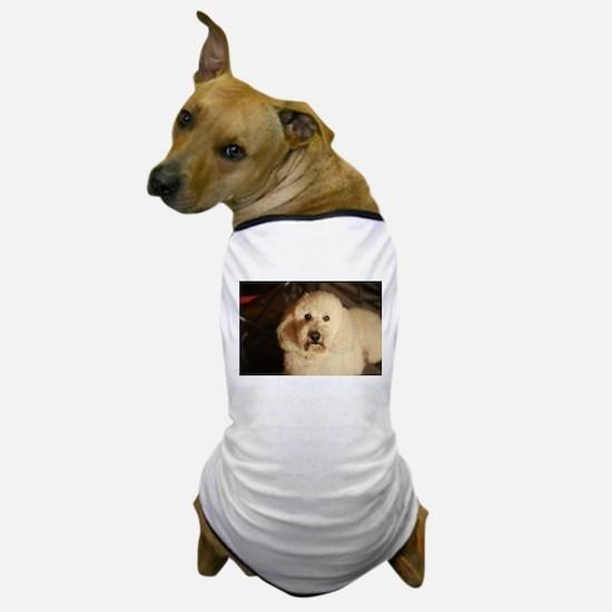 flufy white dog at night Dog T-Shirt
