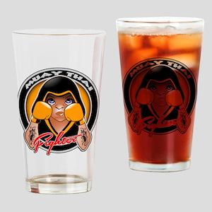 Muay Thai fighter Drinking Glass
