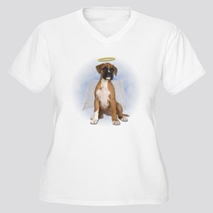 Angel Boxer Puppy Plus Size T-Shirt