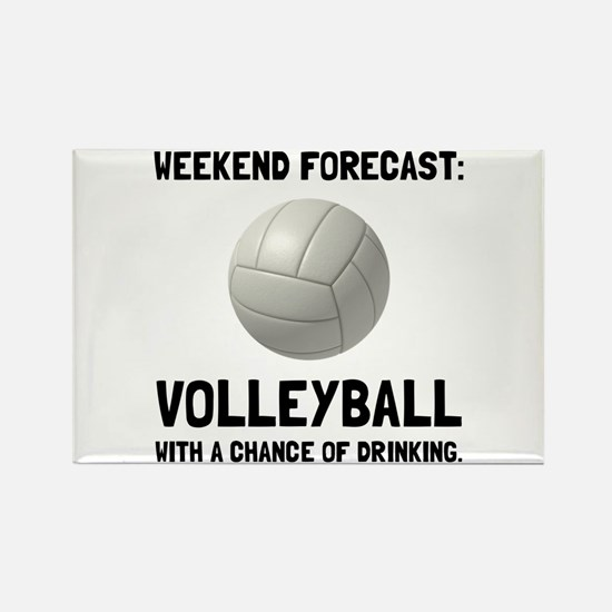 Weekend Forecast Volleyball Magnets