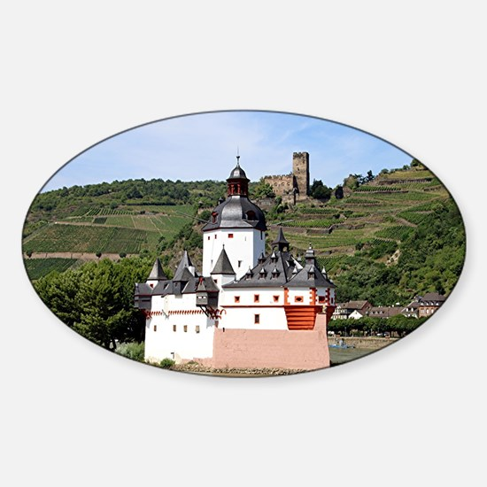 Pfalzgrafenstein Castle, Rhine River, Germ Decal