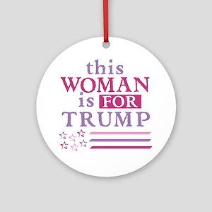 FOR Trump Round Ornament
