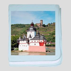 Pfalzgrafenstein Castle, Rhine River, baby blanket