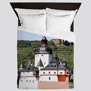 Pfalzgrafenstein Castle, Rhine River, Queen Duvet