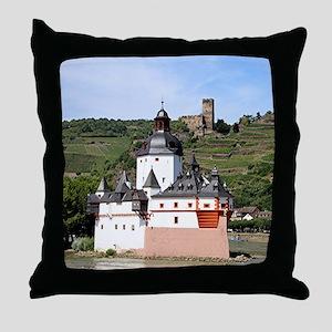 Pfalzgrafenstein Castle, Rhine River, Throw Pillow