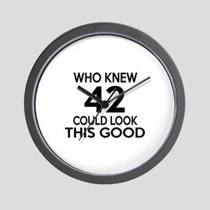 Who Knew 42 Could look This Good Wall Clock
