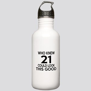 Who Knew 21 Could look Stainless Water Bottle 1.0L