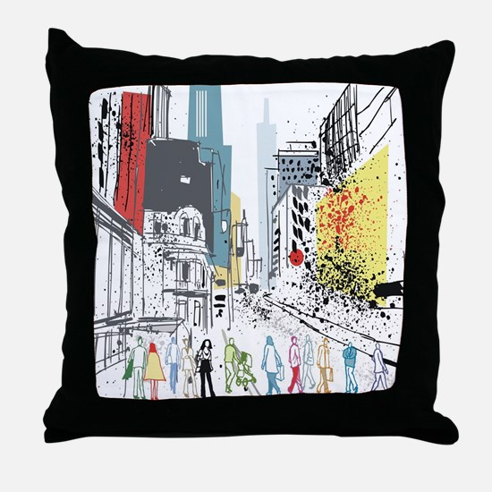 Cute New york times Throw Pillow
