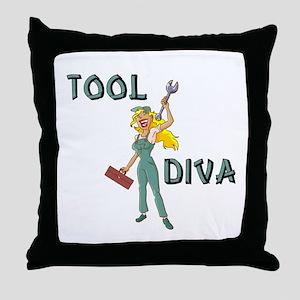 Tool Diva 2 Throw Pillow