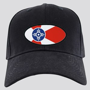 Wichita ICT Flag Black Cap with Patch