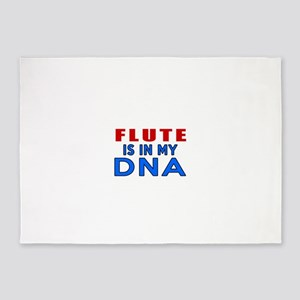 flute Is In My DNA 5'x7'Area Rug