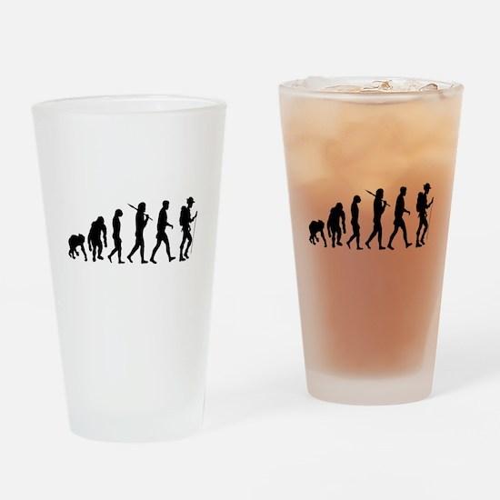 Hiking Evolution Drinking Glass