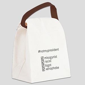 #notmypresident Canvas Lunch Bag