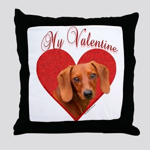 Dachshund Valentine Throw Pillow