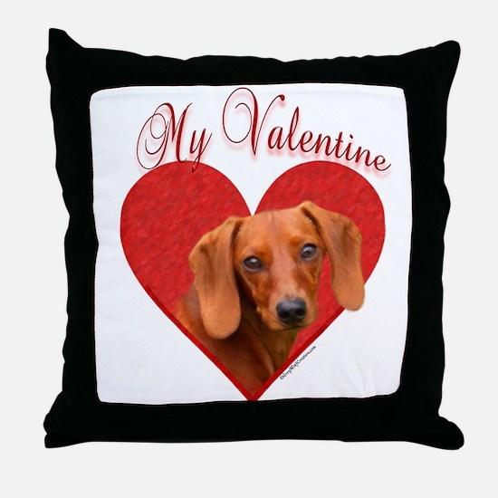Dachshund Valentine Throw Pillow