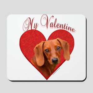 Dachshund Valentine Mousepad