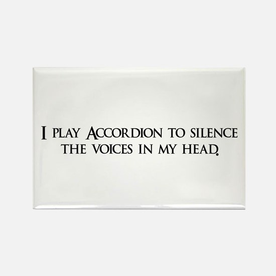 I play Accordion to silence t Rectangle Magnet