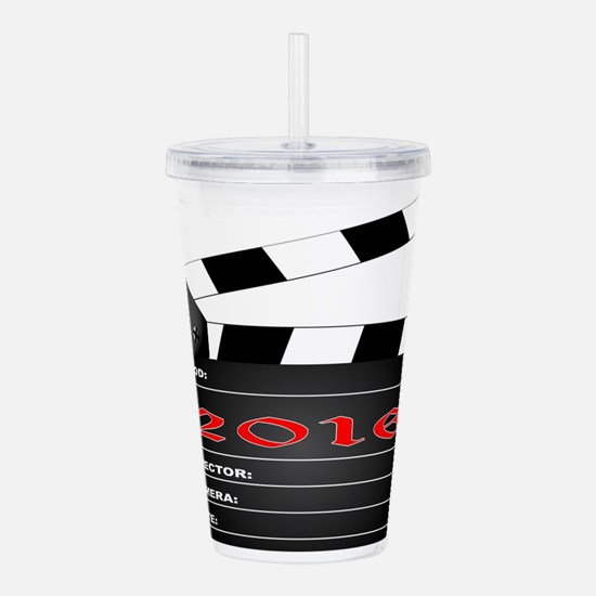 2016 Clapper Board Acrylic Double-wall Tumbler