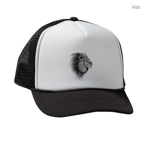 d4284b4c03629 Lion (Black and White) Kids Trucker hat by Admin CP19732459