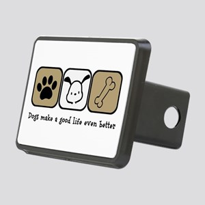 Dogs Make a Good Life Even Rectangular Hitch Cover