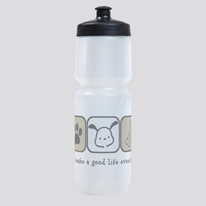 Dogs Make a Good Life Even Better Sports Bottle