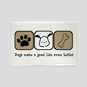 Dogs Make a Good Life Even Better Magnets