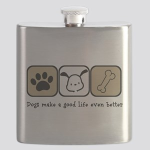 Dogs Make a Good Life Even Better Flask