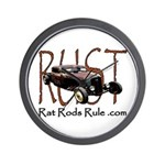 Rat Rods Rule Wall Clock